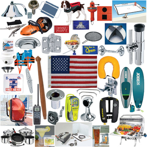 The Boat Life Collection has products that enhance the boating life such as brass instruments, flags, grills, galley items and appliances, teak, audio, seating and tables, pet gear, fishing equipment, paddling, men's and women's gear, h