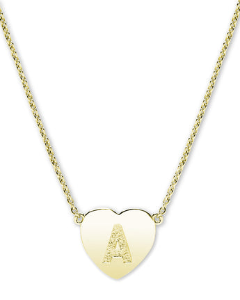 18K GOLD PLATED INITIAL HEART NECKLACE