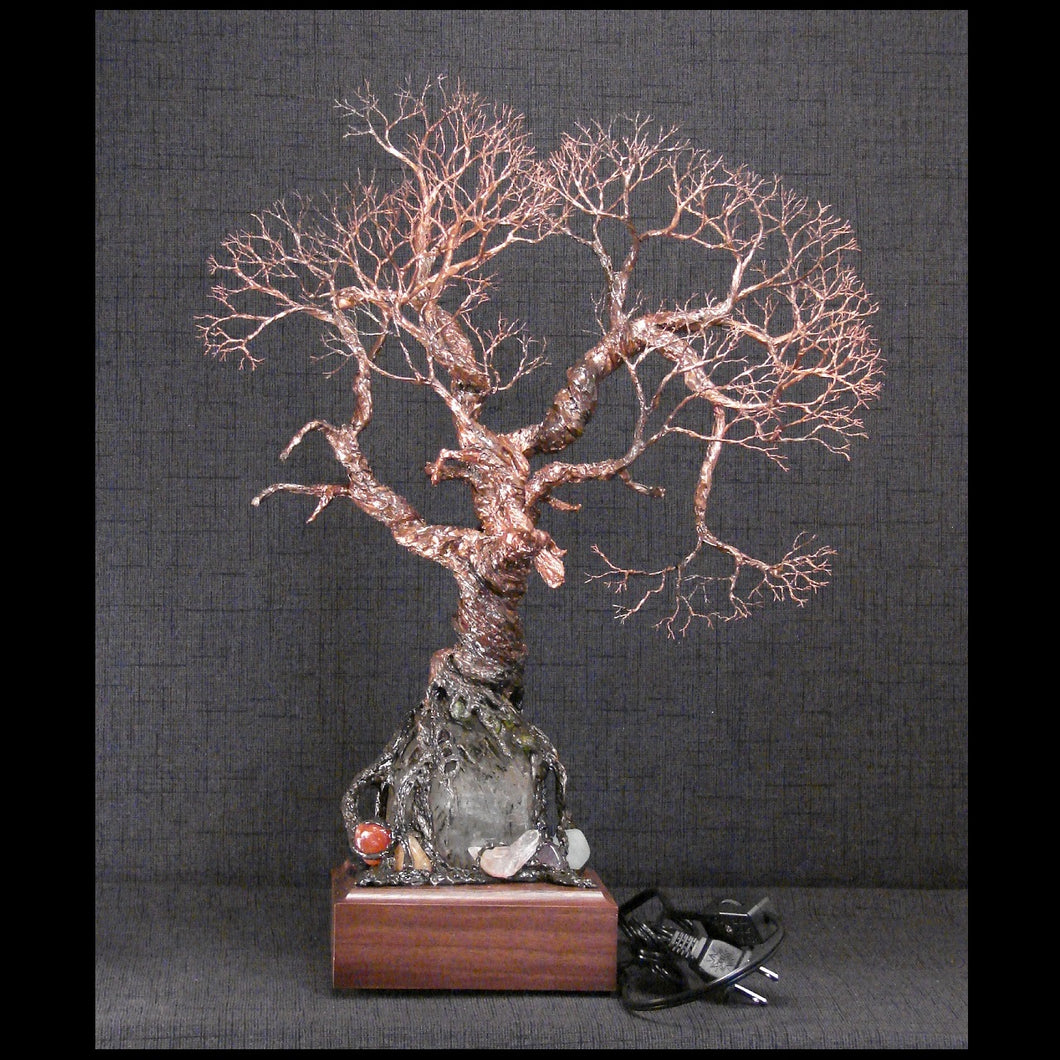 Wire and metal Tree sculpture, A Walk with the Ancients, green and ...