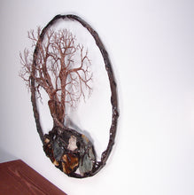"Circle Of Life 12"", We Three Sisters, Tree Spirits Sculpture, wall decor original art"