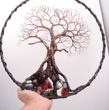 "Circle Of Life 12"", Ancient Tree Sculpture, wall decor original art"