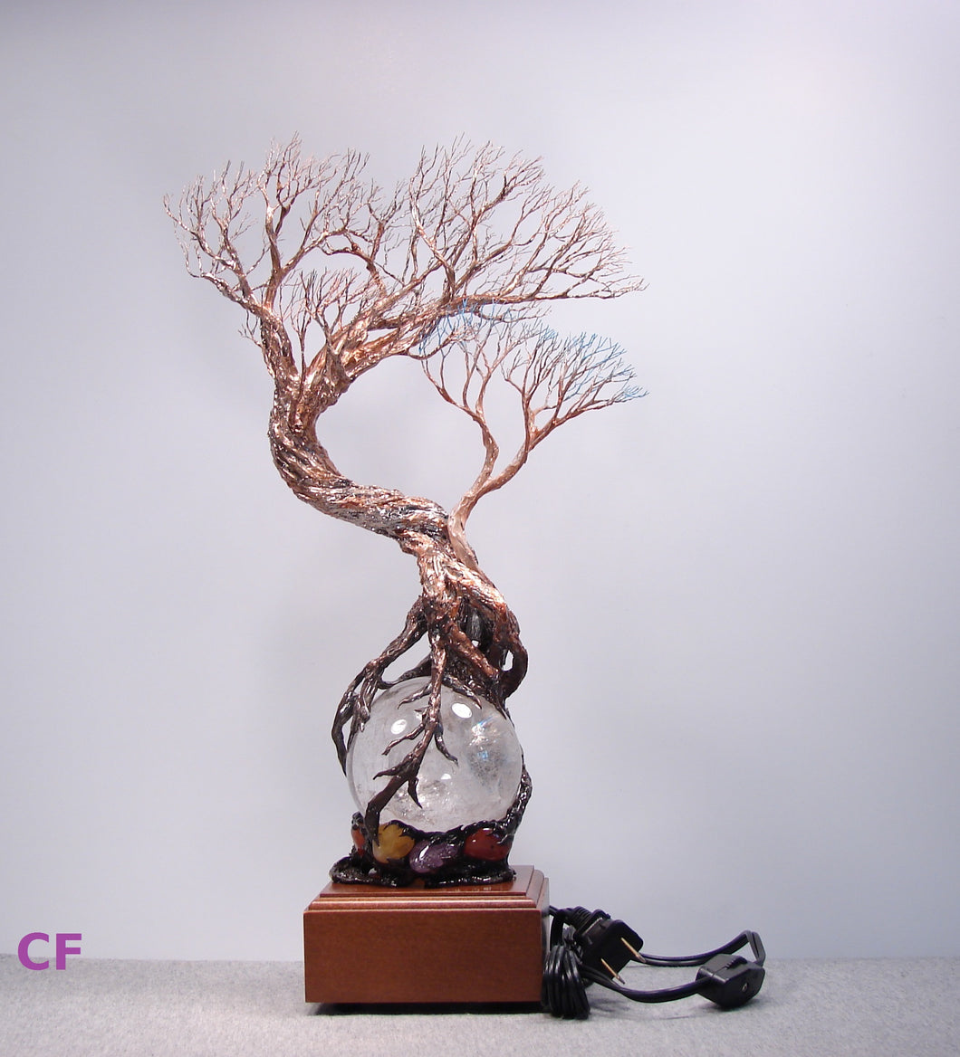 Wire and metal Tree sculpture, Ancient Tree and the Tree Spirit ...