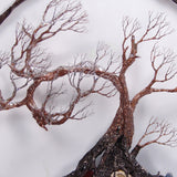 "Circle Of Life 12"", Ancient Wind Tree Spirit Sculpture, wall decor original art"