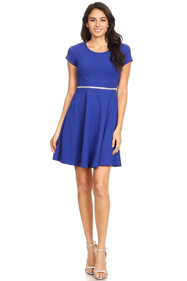 Classically Chic Skater Dress in Royal Blue