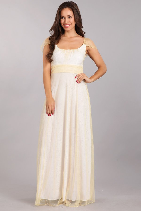 Belle of the Ball Light Gold Long Dress