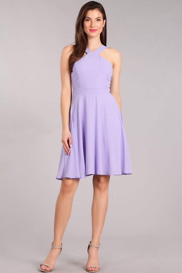 Midsummer Night V-Neck Short Dress