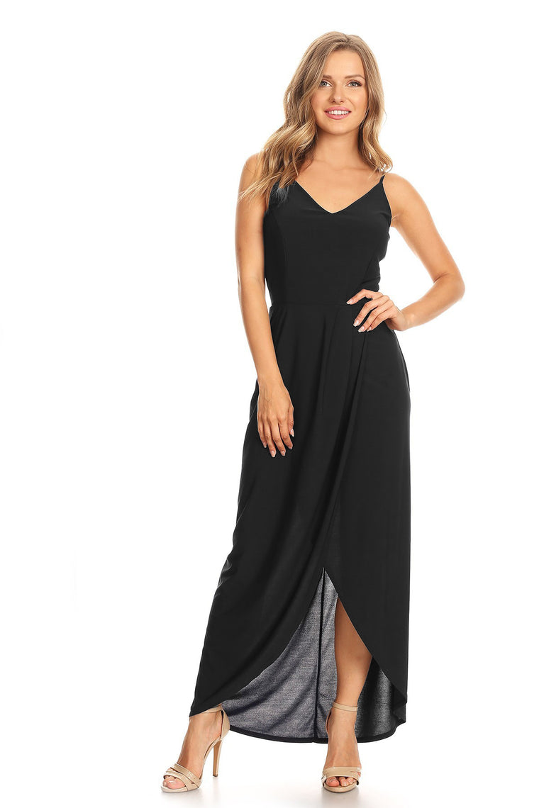 Wrapped In Style High Low Dress in Black