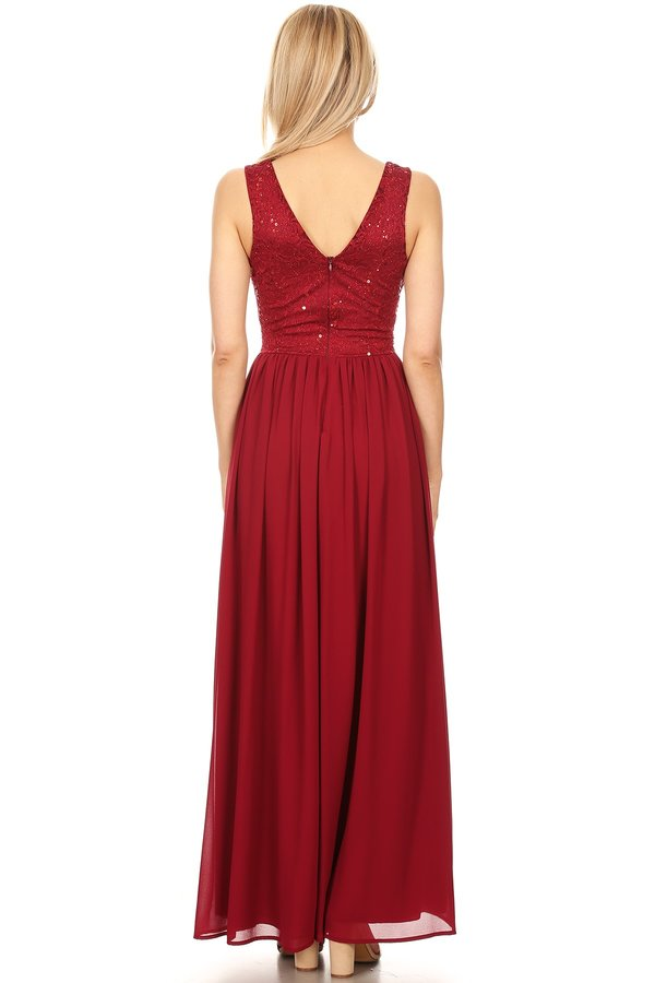 Sleeveless Grecian Style Evening Dress
