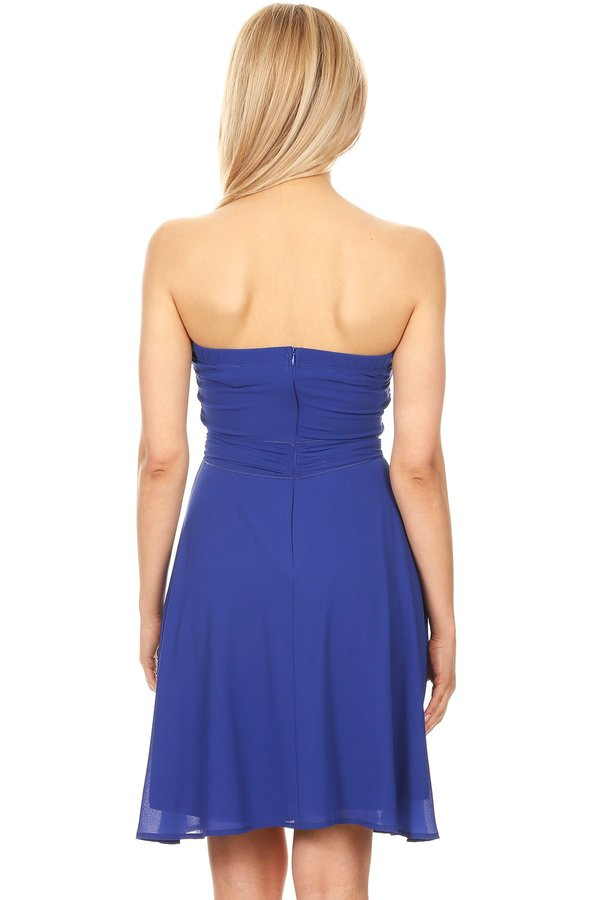 Strapless Elegant Short Dress