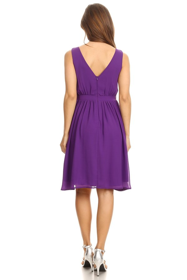 Twinkle In My Eye Empire Waist Purple Dress