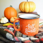 Orange Mug With White Letters