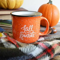 """Fall is My Favorite"" Campfire Mug (Free Shipping)"