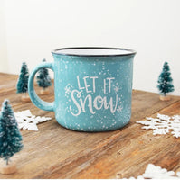 """Let It Snow"" Campfire Holiday Mug (Free Shipping)"