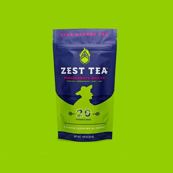 Zest Tea Pomegranate Mojito Green Tea
