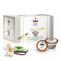 White Box With Coffee Pods In front and vanilla bean