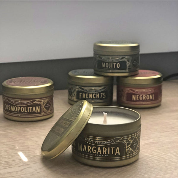 Margarita Travel Tin Candle from Rewined