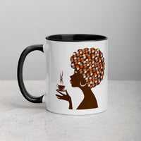 Coffee Bean Afro Chic Mug (Colored Inside) - Free Shipping