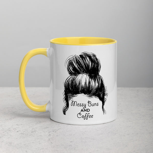 Messy Buns & Coffee Mug (Colored Inside) - Free Shipping