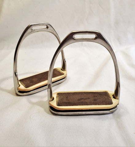 Prussian Stirrups with Sandpaper Inserts - 4.5""