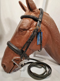 Barnsby Comfort Crown Dressage Bridle with Rubber Reins - Full - New!