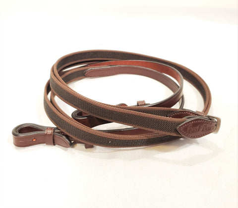 Red Barn Monkey Grip Reins without Stops - New!