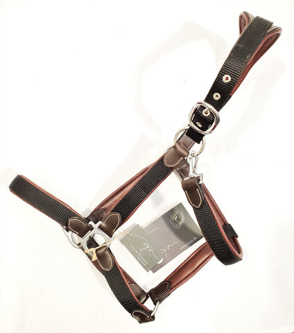 Dy'on Working Collection Padded Nylon/Leather Halter - Full - New!