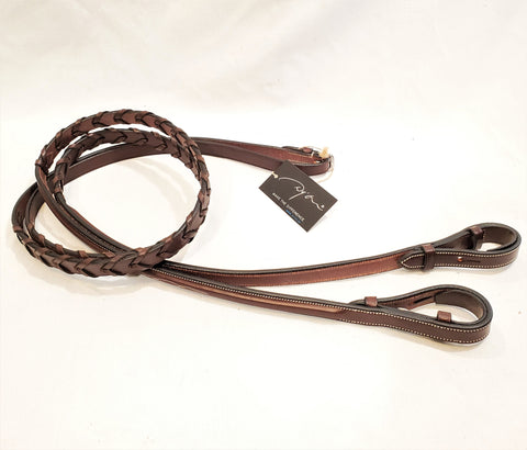 Dy'on Hunter Collection Raised Fancy Stitched Laced Reins - Pony - New!