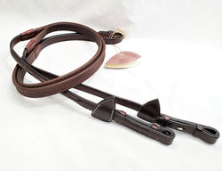 "Dy'on Raised Fancy Stitched 5/8"" Rubber Reins - Pony - New!"