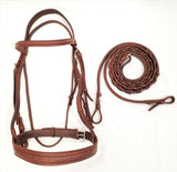 EquuSport Custom Fancy Wide Noseband Bridle with Reins - Full