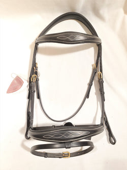 Dy'on Anatomic Noseband Flash Bridle - Full - New!