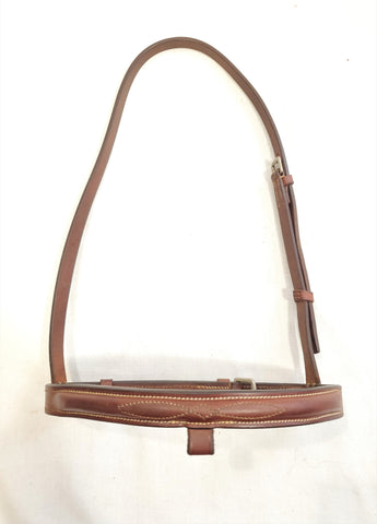EquuSport Fancy Stitched French Noseband - Pony