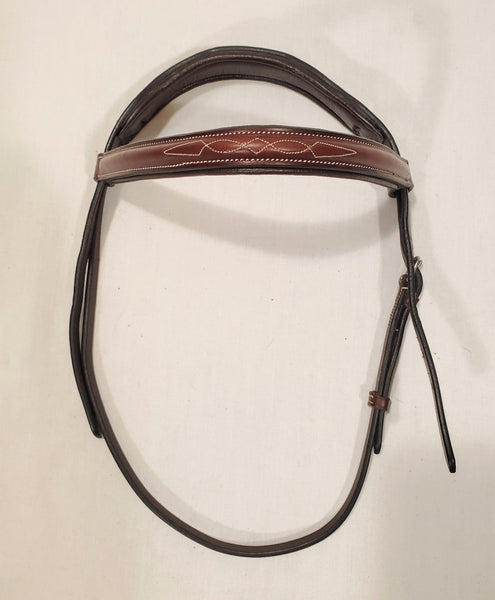 Padded Crown Fancy Stitched Headstall - Cob - New!