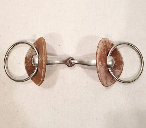 Hollow Loose Ring Snaffle with Bit Guards - 5.25""