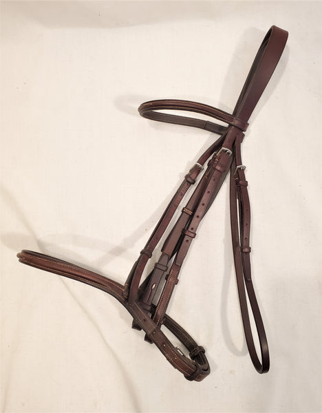 "Edgewood 5/8"" ""Petite"" Fancy Stitched Raised Bridle - Full"