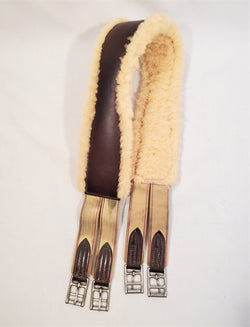 Sheepskin Lined Leather Girth - 46""