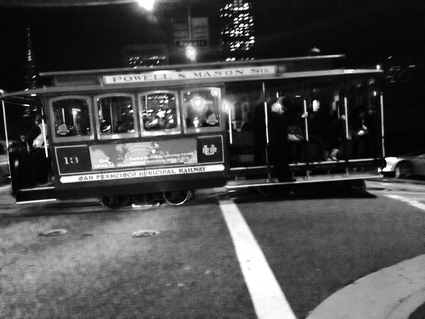 Trolley Black and White