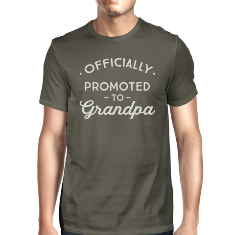 Officially Promoted To Grandpa Mens Dark Grey Shirt