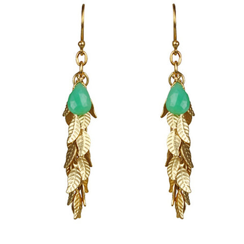Leaf Cascade Cluster Chrysophrase Earrings - F. W. Woolworth Co. Online Store
