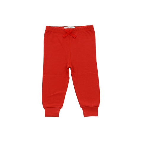 Cozy Baby Pants Red