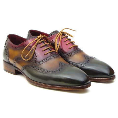 Paul Parkman Men's Three Tone Wingtip Oxfords (ID#PP22F75) - F. W. Woolworth Co. Online Store
