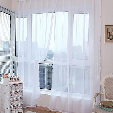 Sheer White Curtains - F. W. Woolworth Co. Online Store