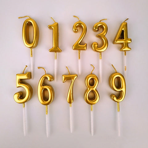 Golden Number Candles - F. W. Woolworth Co. Online Store