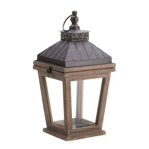 Open Top Wood Frame Lantern - F. W. Woolworth Co. Online Store