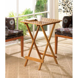 Bamboo Wood Folding Tray Table - F. W. Woolworth Co. Online Store
