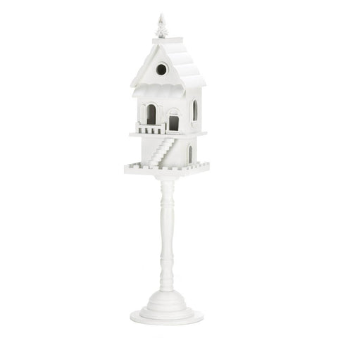 Two Story Standing White Birdhouse