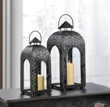 Arched Large Black Medallion Lantern - F. W. Woolworth Co. Online Store