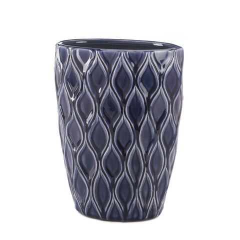 Deep Blue Wide Vase - F. W. Woolworth Co. Online Store