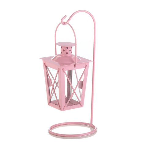 Pink Iron Railroad Hanging Lantern Pair - F. W. Woolworth Co. Online Store