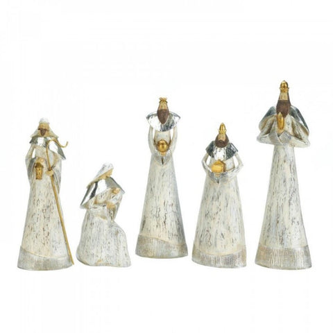 Weathered White Nativity Set - F. W. Woolworth Co. Online Store