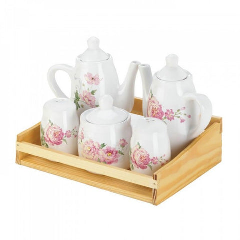 Mini Dolomite Pink Floral Tea Set - F. W. Woolworth Co. Online Store